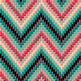Herringbone Pattern_Pink-Green Royalty Free Stock Photo