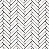 Herringbone pattern. Rectangles rounded corner slabs tessellation with white slant blocks tiling. Floor cladding bricks. Repeated tiles ornament background stock illustration