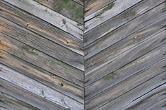 Herringbone pattern of the wooden planks. Royalty Free Stock Images