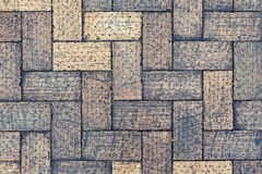 Herringbone pavement Stock Images
