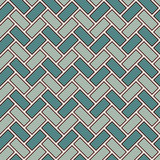 Herringbone wallpaper. Parquet background. Seamless pattern with repeated rectangular tiles. Classic geometric ornament stock illustration