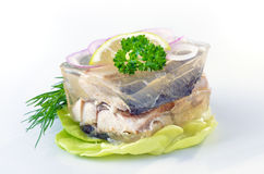 Herrings in aspic Royalty Free Stock Photo