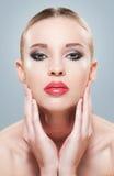 Herrlich im Make-up stockfotos