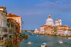 Herrliche Ansicht Grand Canal s und der Basilika Santa Maria della Salute Lizenzfreies Stockbild