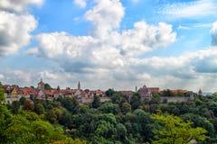 Herrliche Ansicht an Rothenburg-ob der Tauber Stockfoto