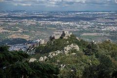 Herrliche Ansicht vom Pena-Palast, Portugal lizenzfreie stockfotografie