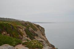 Herrliche Aussichten Cliff At Rock Cape Ins Sintra Natur, Architektur, Geschichte 13. April 2014 Cabo De La Roca, Sintra, stockbilder