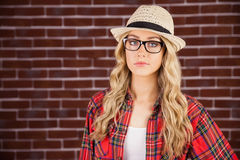 Herrliche blonde Hippie-Aufstellung Lizenzfreie Stockbilder