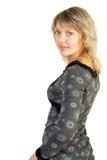 Herrliche Blondine mit blauen Augen lizenzfreie stockfotografie