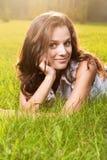 Herrliche junge hübsche Frau Stockfotografie