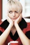 Herrliche langhaarige blonde Schönheit Stockfotos