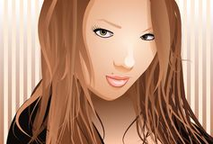 Herrliche reizvolle junge Frau Stockfoto