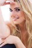 Herrliche sexy blonde Frau Stockfotos