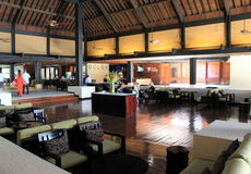 Herrlicher Hauptraum im Foyer des Westin-Erholungsortes und des Badekurortes, Denarau-Insel, Fidschi, 2015 Lizenzfreie Stockbilder