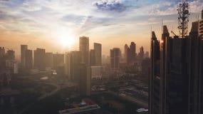 Herrlicher Semanggi-Straßenschnitt bei Sonnenaufgang Lizenzfreie Stockbilder