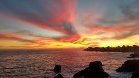 Herrlicher Sonnenuntergang Stockbild