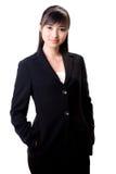 Herrliches asiatisches weibliches Leitprogramm Stockbild