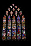 Herrliches Beispiel des Buntglasfensters Stockbild