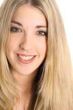Herrliches blondes headshot Lizenzfreies Stockfoto