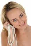 Herrliches blondes Mädchen-Portrait Lizenzfreies Stockfoto