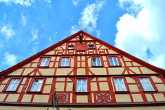 Herrliches Fachwerkhaus in Deutschland Stockfotos