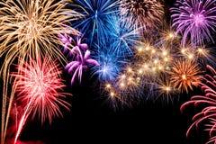 Herrliches Feuerwerk Lizenzfreies Stockfoto