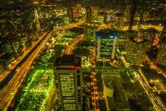 Herrliches Licht von Minatomirae lizenzfreies stockbild