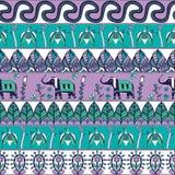 Herrliches nahtloses Muster in der böhmischen Art Lizenzfreie Stockbilder