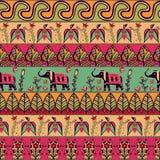 Herrliches nahtloses Muster in der böhmischen Art Stockbilder