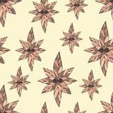 Herrliches nahtloses Muster gemacht von den Blumen in den Weinlesefarben Lizenzfreie Stockfotos