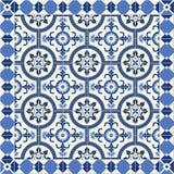 Herrliches nahtloses Muster weiße türkische, marokkanische, portugiesische Fliesen, Azulejo, Verzierung Lizenzfreie Stockbilder