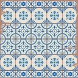 Herrliches nahtloses Muster weiße türkische, marokkanische, portugiesische Fliesen, Azulejo, Verzierung stock abbildung