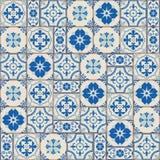Herrliches nahtloses Muster weiße türkische, marokkanische, portugiesische Fliesen, Azulejo, Verzierung Lizenzfreie Stockfotografie