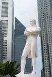 Herrnen Raffles statyn, Singapore Royaltyfri Fotografi