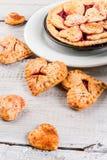 Сherry pie for Valentine`s Day Royalty Free Stock Photos