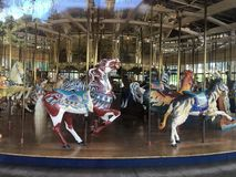 The Herschel-Spillman Carousel at the Koret Children`s Playground, Golden Gate Park, 6. stock photos