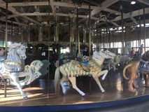 The Herschel-Spillman Carousel at the Koret Children`s Playground, Golden Gate Park, 5. This most enchanting carousel, where every one of the 62 animal rides stock images