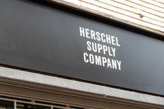 Herschel Supply Company shoppar yttersida arkivbilder