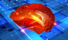 hersenen Cybermening en Digitale Neurale Netwerken vector illustratie