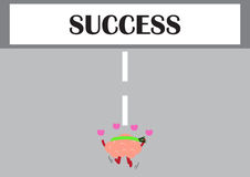 Hersenen die aan succes lopen royalty-vrije illustratie