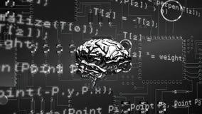 Hersenen en programmacodes met digitale kring vector illustratie