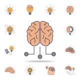 hersenen en van de uitgangen fild kleur pictogram Gedetailleerde reeks pictogrammen van het kleurenidee Premie grafisch ontwerp É royalty-vrije illustratie