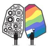 Hersenen links-rechts ontwerp Royalty-vrije Stock Fotografie