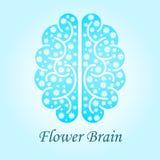 Hersenen met bloemen Royalty-vrije Stock Foto's