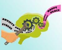 Hersenen vectorillustratie Stock Fotografie