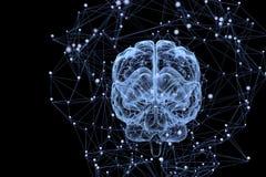 Hersenenactiviteit Stock Foto
