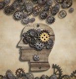 Hersenengeestesactiviteit en ideeconcept Royalty-vrije Stock Afbeelding