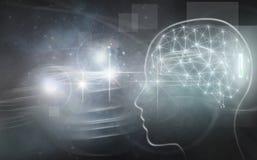 Hersenenimplant samenvatting Stock Foto