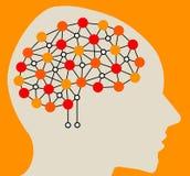Hersenenverbinding royalty-vrije illustratie