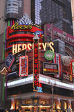 Hershey chocolate shop, Times square. The famous Hershey bar, chocolate shop, in Times square, New York city Stock Photo